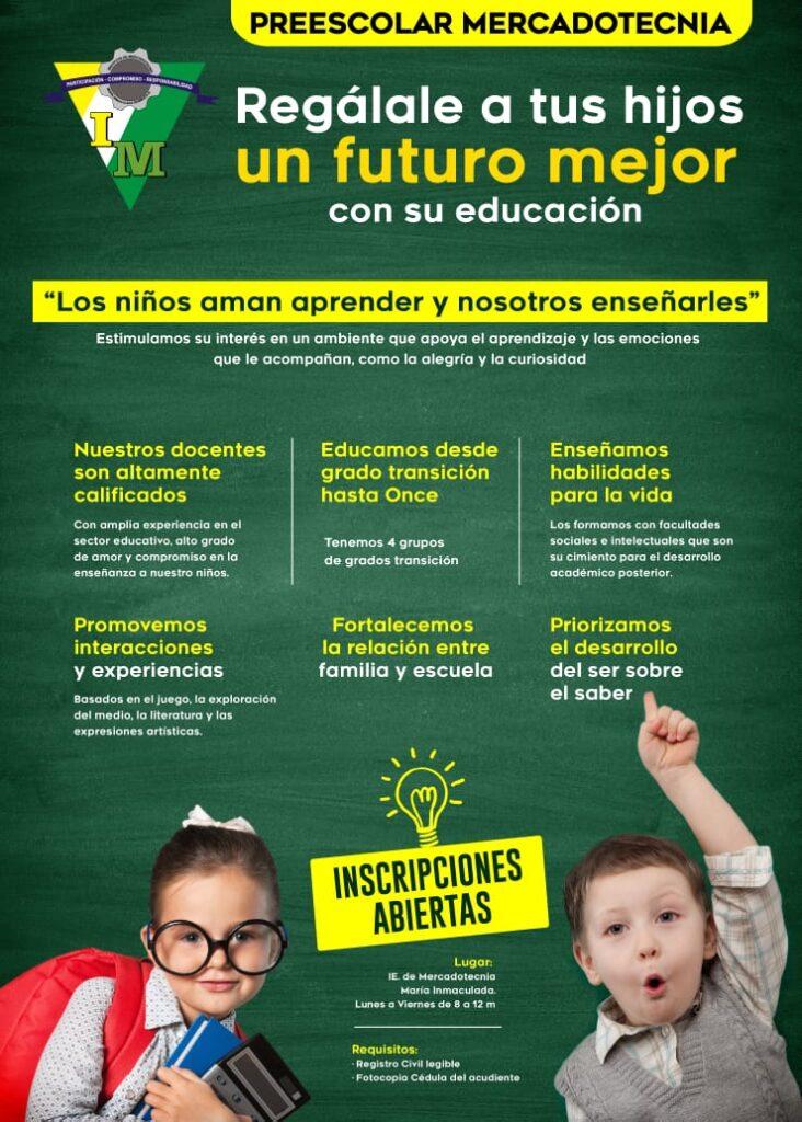 Afiche promocional Preescolar IMMI